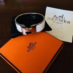 Hermès Clic Clac H bracelet PM Silver Palladium